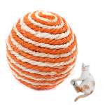 Durble Playing Chewing Colorful Sisal Ball Pet Toy For Cats And Dogs Pet Supplies