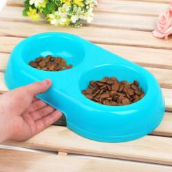 Environmental Plastic Lässige Doppelwaschbecken Tierfutter Bow