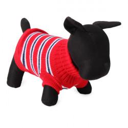 Mode Randig Husdjur Hund Stickad Andningsbara Tröja Ytterkläder Apparel