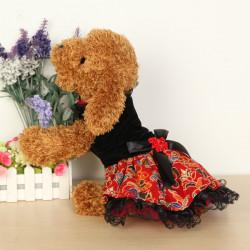 Folk Art Sommer Hundekleid Rock Welpen Hochzeitskleid Spitze Hund Rock