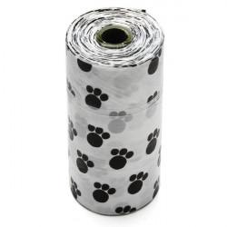 Footprint Muster Pick Up Abfall Poop Taschen für Haustiere Hunde Katzen 1 Rolle