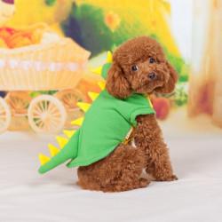 Grön Dinosaur Teddy Trans Polar Ull Smådjur Cosplay Kappa