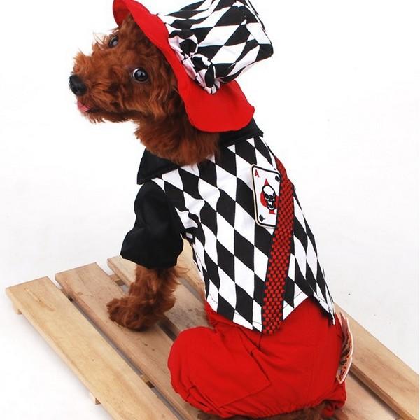 Halloween Trollkarl Stil Poker Mönster Strap Husdjur Hundkläder Husdjurstillbehör