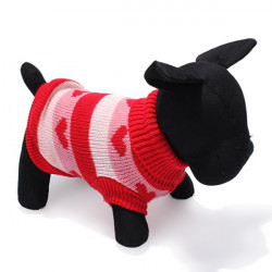Hjärta Typ Polo Husdjur Hund Stickad Andnings Tröja Ytterkläder
