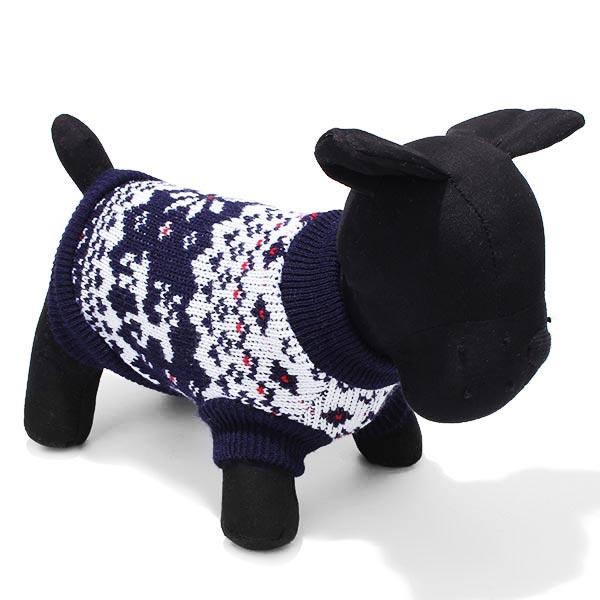 High Star Pet Dog Knitted Sleeveless Sweater Black Pet Supplies