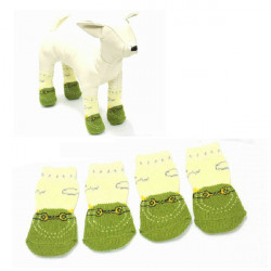 Indoor Pet Dog Soft Cotton Anti-Slip Knit Weave Warm Sock