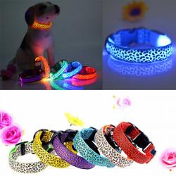 L Haustier Hund Katze Nylon LED blinkendes Sicherheits Halsband