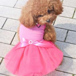 Lace Dog Dress Skirt Puppy Wedding Dress Bubble Doggy Skirt