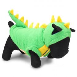 Stor Dinosaur Stil Gröna Hund Camo Ull Husdjur Vinterkläder
