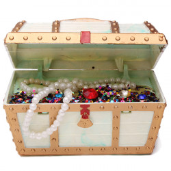 Large Treasure Chest Action-Air Aquarium Ornament