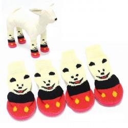 Little Bear Anti-Slip Waterproof Bottom Pet Socks Shoes Footwear