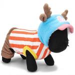 Lovely Cat Dog Horns Peaked Cap Jobar Winter Polar Fleece Jumpsuit Pet Supplies