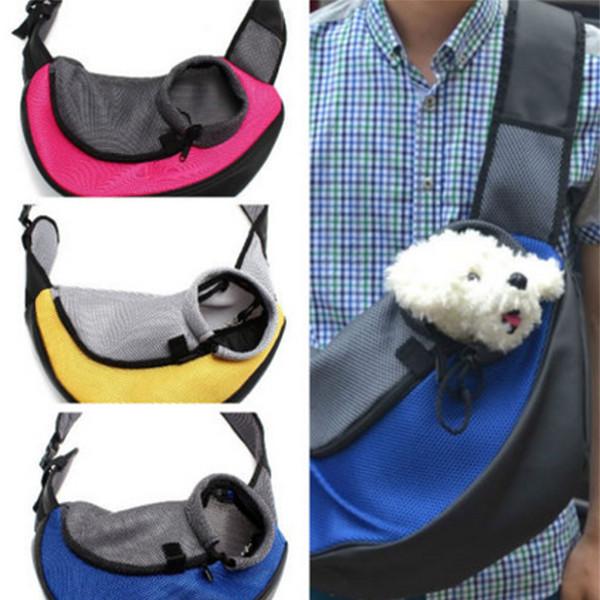 M Husdjur Hund Katt Carrier Mesh Sling Backpack Resa Hänger Axelremsväska Husdjurstillbehör