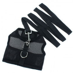 M Soft Pet Safety Leash With Mesh Girth Harness Vest