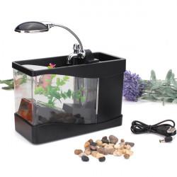 Mini USB LCD Tischplattenlampen Licht Fisch Behälter Aquarium
