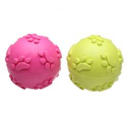 Kindtänder Gummi Footprint Boll Leksak för Husdjur Hundar Katter
