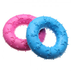 Molar Teeth Rubber Footprints Circle Shaped Toy for Pets Dogs Cats