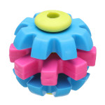 Molar Teeth Rubber Three Color Gear Ball Toy for Pets Dogs Cats Pet Supplies
