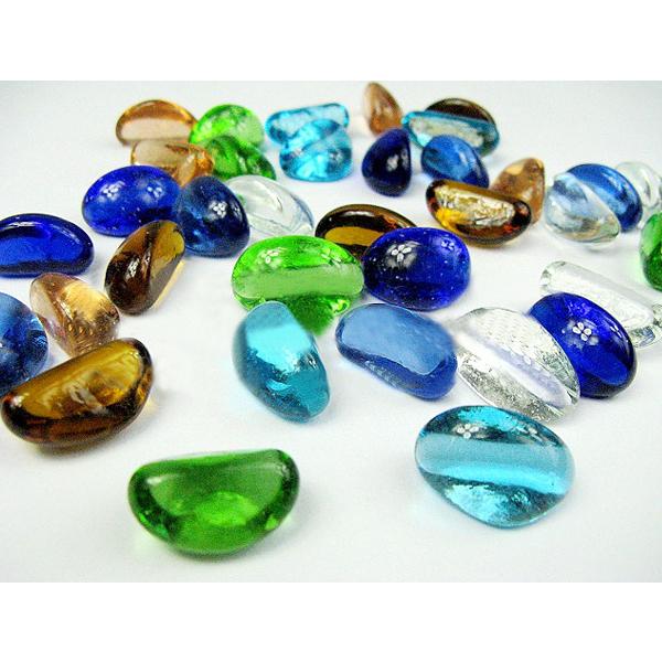 Månen Shape Färgglada Crystal Bead Glas Boll Akvarium Dekoration Husdjurstillbehör