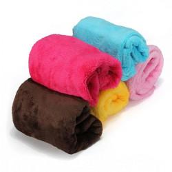 Multi Farben Weichkorallen Fleece Plüsch Hundekatze Mat Blanket
