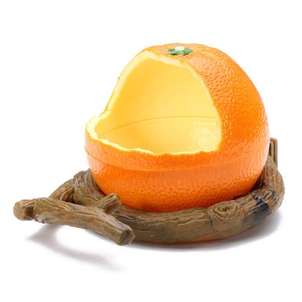 Orange Plastic Bird Cup Bird Food Feeder Pet Supplies