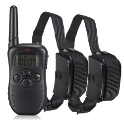 PET-998DR Rechargeable Waterproof Remote Pet Training Collar US Plug