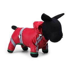PVC One Layer Reflective Strip Waterproof Pet Hoodie Raincoat
