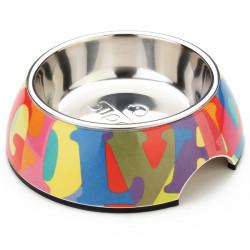 Pet Zusammenfassung bunten Alphabet Muster Edelstahl Hund Katze Bowl
