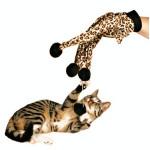 Husdjur Katt Plysch Leopardtryck Glove Kitten Teaser Leksak Husdjurstillbehör