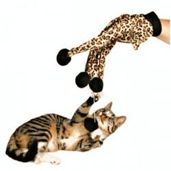 Haustier Katze Plüsch Leopard Druck Handschuh Kätzchen Teaser Toy