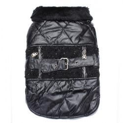 Pet Clothes Dog Casual Back Belt Lace Winter Cotton Coat