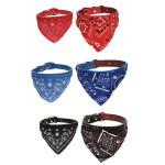 Hundehalsband aus Leder Schal Einstellbare Puppy Halstuch Haustierzubehör