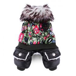 Kæledyr Farverige Luksus Tyk Bomuld Jumpsuit Frakke Tøj Vinter
