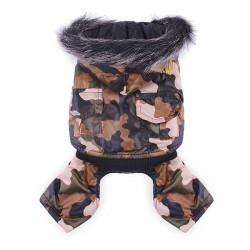 Pet Detachable Camouflage Waterproof Windbreaker Coat Jumpsuit