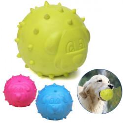 Husdjur Hund Boll RTB Gummi Bite Resistenta Tänder Rengöring Tugg Play Leksak