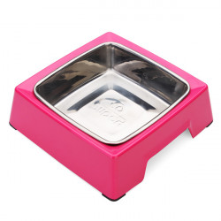 Pet Dog Cat Bowl Square Stainless Steel Bowl