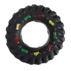 Pet Dog Cat Chew Squeaky Sound Rubber Tire Play Toy