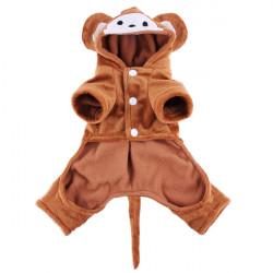 Haustier Hund Katze Affe Übertragen Partei Kostüm Baumwollmantel Overall