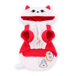 Pet Dog Clothes Traditional Chinese Lucky Cat Letter Printing Coat Pet Supplies