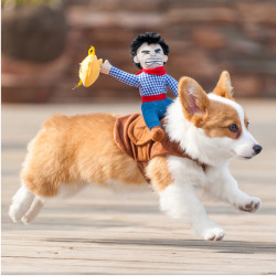 Haustier Hund Cowboy Wear Stil Ritter Kleidung Harness Kleidung Kostüm
