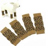 Pet Dog Leopard Pattern Cotton-Knitted Warm Kneelet Ankle Socks Pet Supplies