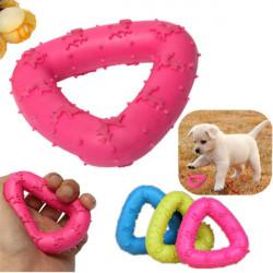 Husdjur Hund Puppy Gummi Triangle Dental Tandrengöring Tugg Play Leksak