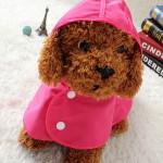 Pet Dog Raincoat Double Layer Puppy Dog Raincoat With Hat Frog Dog Raincoat Pet Supplies