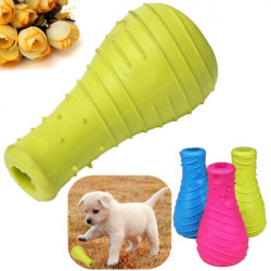 Pet Dog TPR Rubber Bite Resistant Bottle Teeth Cleaning Chew Play Toy