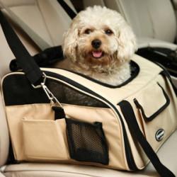 Pet Dog Travel Car Bag Pet Safe Car Cage Bag