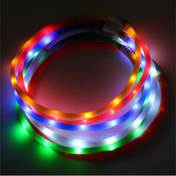 Pet Dog Waterproof Rechargeable LED Flashing Light Loop Collar