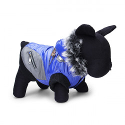 Pet Dog Winter Poly Urethane Hooded Wadded Warm Cotton Coat Jacket