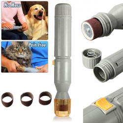 Pet Electric Claw Toe Nail Grooming Trimmer Tool Grinder Clipper