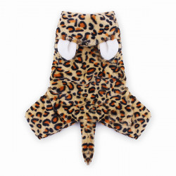 Pet Leopard Print Winter Jumpsuit Clothes Dog Cat Coat Costume