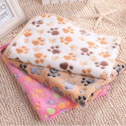 Hundetatzen Druck Hundewelpen Katze weiches Fleece Blanket Schlafmatte Winter
